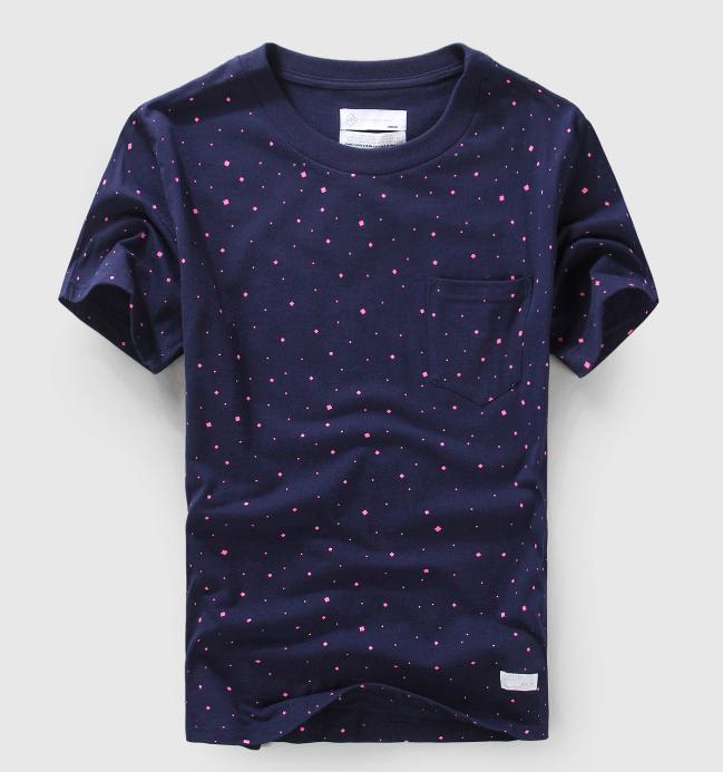 男士新款星空波点潮牌短袖T恤定