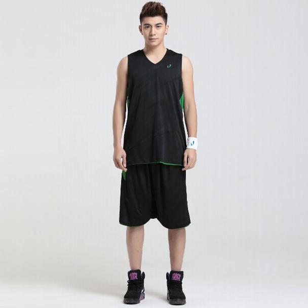 黑色双面穿篮球服生产厂家