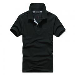 黑色经典商务POLO衫款式设计加工