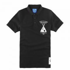 黑色男款时尚印花图案T恤衫印制