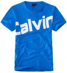 【定做】蓝色纯棉印花文化T恤衫